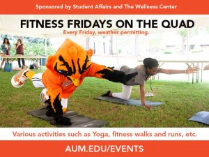 Fitness Fridays on the Quad advertisement