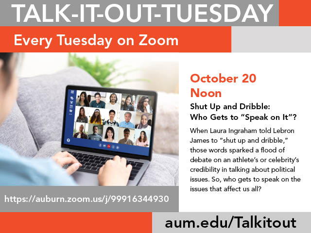 Talk It Out Tuesday advertisement