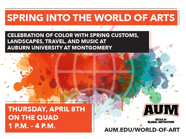 Spring into the World of Arts graphic