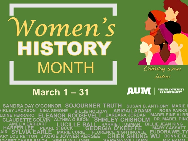 Women's History Month slide
