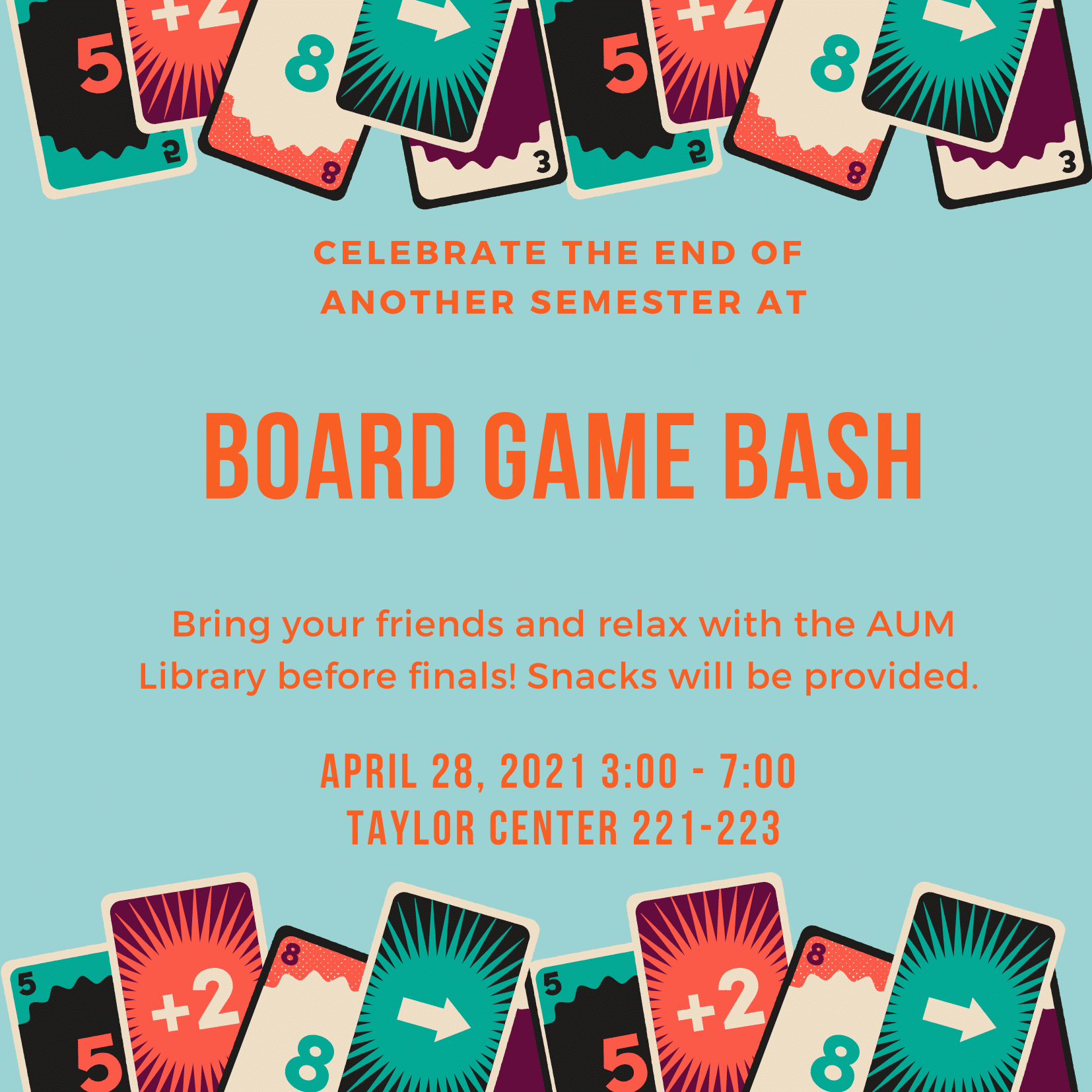 Library Game Day graphic