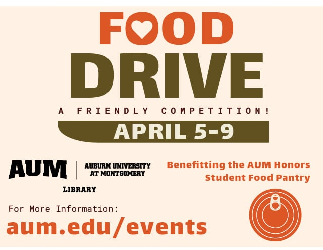 National Library Week food drive graphic