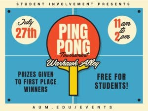 Ping Pont Tournament Graphic