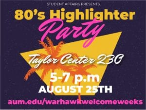 80s Highlighter Party Event Graphic