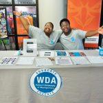 students at wda table