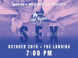 Hot Topics Cafe Event Graphic