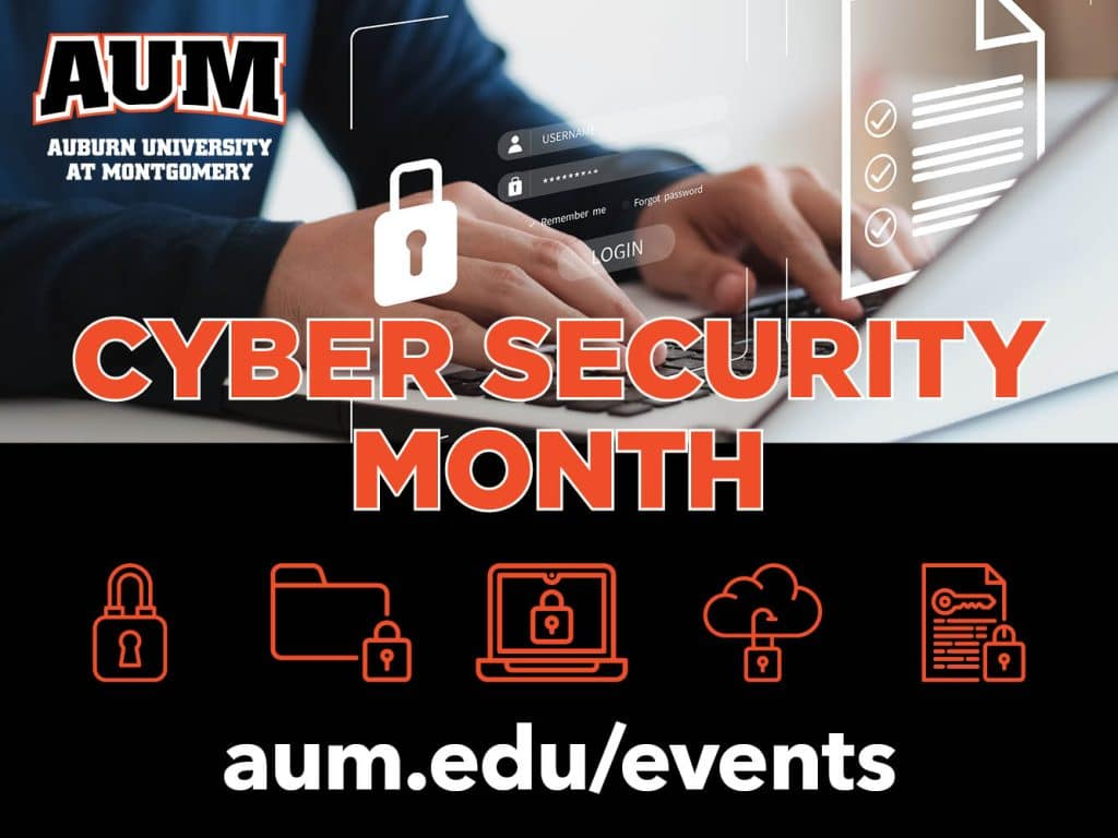 Cyber Security Month Event Graphic