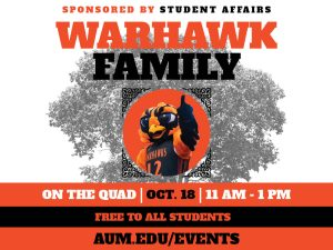 Warhawk Family Event Graphic