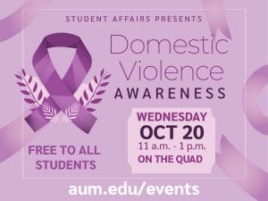 Domestic Violence Awareness Event Graphic